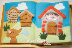 Quiet book #quietbook #livrodefeltro #contosdefadas #lauralineatelier
