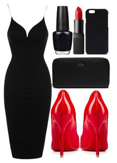 """""""date night"""" by j-n-a ❤ liked on Polyvore featuring Lacoste, Topshop, Christian Louboutin, OPI, NARS Cosmetics and Rick Owens"""