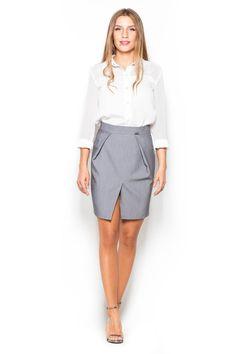 Γυναικεία μίνι φούστα με σκίσιμο μπροστά. Συλλογή: Φθινόπωρο 2016. Χρώμα: Γκρι. Σύνθεση: 65% Πολυεστέρας. 35% Βισκόζη. - Δωρεάν Αλλαγή σε περίπτωση που δεν σας κάνει το μέγεθος. - Δωρεάν Αποστολή για αγορές άνω των 39,90€.