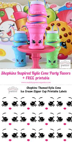 Shopkins Inspired Kylie Cone Party Favors pin it