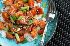 Sweet and Spicy Chicken with Rice