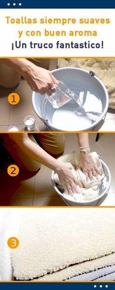 Toallas siempre suaves y con buen aroma. ¡Un truco fantastico!