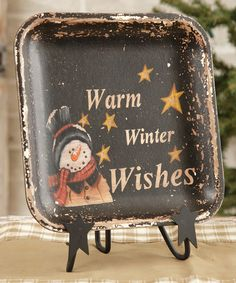 Look at this #zulilyfind! 'Warm Winter Wishes' Square Decorative Plate by Your Heart's Delight #zulilyfinds