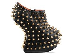 Jeffrey Campbell Shadow Stud Gold in Black Gold...girl needs badass shoes