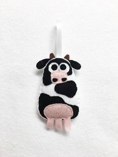Cow Ornament Christmas Ornament Felt Ornament Ginger the