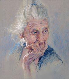 "Study for ""Aunt Emily"" - oil, Paul Murray"