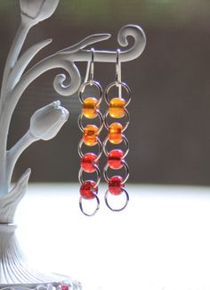 Ombre Jump Ring Earrings by ThatGirlsDesigns on Etsy, $6.00