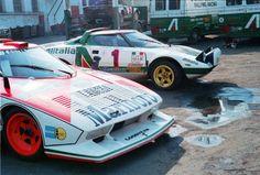 The works Lancia Stratos Turbo Gr 5 at the Giro D'Italia 1976