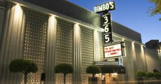Bimbo's 365 Club in San Francisco, California.