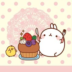 Molang Berries and Cake.