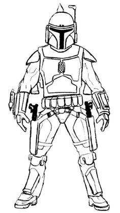 star wars line drawings free - Google Search
