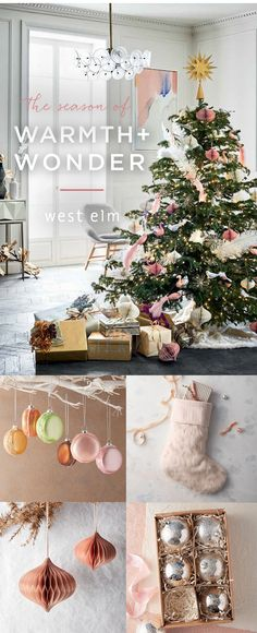 Show your style this Holiday season with Christmas decorations from west elm!