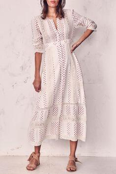 Loveshackfancy Desert Victorian Maxi Dress - 8