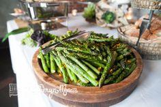 Fresh roasted asparagus with garlic oil. YUM. Ravishing Radish Catering. Katy Moran Photography.