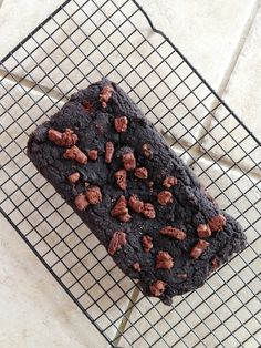 Chocolate Brownie Protein Bread with Quest Bar Bits