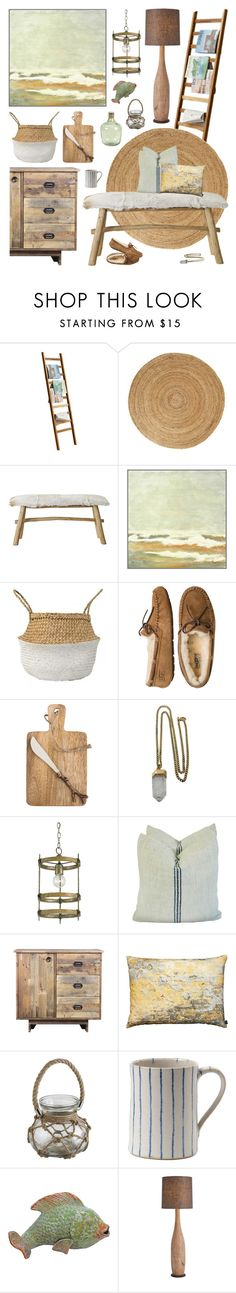 """Rustic"" by ladomna on Polyvore featuring interior, interiors, interior design, home, home decor, interior decorating, ANJI MOUNTAIN, Bloomingville, Dot & Bo and UGG Australia"