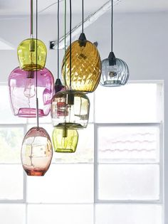 Colored glass pendants