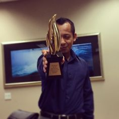 Congrats to @art_extraordiano, our Creative Director, for bringing another #PollieAward to DMI team! #winning