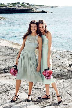 J.Crew women's Megan dress in silk chiffon and Carly dress in drapey matte crepe.
