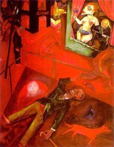 George Grosz (German, American 1893–1959) [Dada, Neue Sachlichkeit] Selbstmord, 1916.