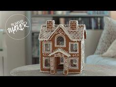 Cardboard Gingerbread House, Make A Gingerbread House, Gingerbread House Template, Gingerbread Village, Gingerbread Cookies, Christmas Cookies, Christmas Crafts, Cardboard Houses, Christmas Houses