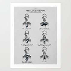 The Illustrated Guide to the Miskatonic Knot Art Print by 6amcrisis - $16.64