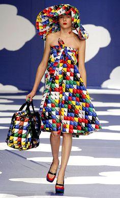 Lego Fashion on the Runway