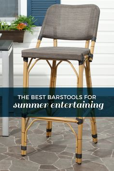 The Best Barstools and Seating For Outdoor Living and Entertaining! - DEQOR.com