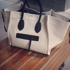 Celine Canvas and Leather Men's Bag. Spring/Summer Men's Fashion.