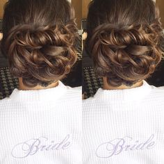 It's such a great feeling to have a bride completely trust in everything you do. Andrea did not have a trial for her wedding day today but simply had hair & makeup from a company that she trusted. HA: @jessica_lyness #beautyasylum #bridalhair #updo #weddinginspiration #hairinspo