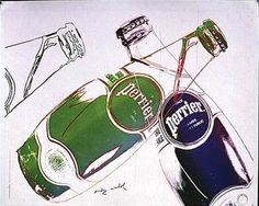 Publicité Perrier, 1983, par Andy Warhol