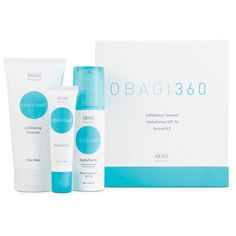 Try #Obagi360, the ideal system for younger patients. A unique combination of effective ingredients provides early intervention for loss of radiance and resilience; minimal fine lines and wrinkles; dull, uneven skin texture and tone; and dry skin.