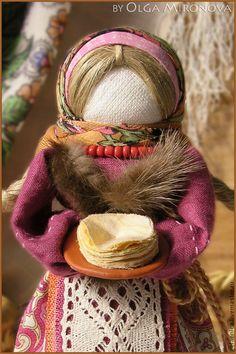 Tradycyjne Lalki ręcznie.  Pancake-Yasochka.  Olga Mironova.  Fair Masters.  Lalka Ludowej, darem od karnawału, len