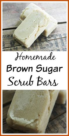 These homemade brown sugar scrub bars are really easy to put together!