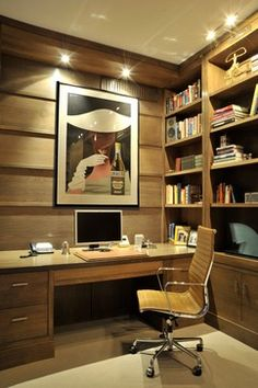 British Chic transitional-home-office
