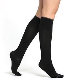 Buttons  Pleats Compression Socks Womens  Pair of Medical Grade Graduated Sock Stockings Black ML *** Want additional info? Click on the image.