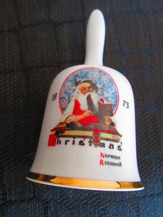 Christmas Norman Rockwell Bell// Santa by truthorwear on Etsy, $30.00