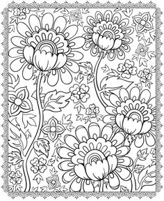 Adult Magnificient Flowers Coloring Pages Printable And Book To Print For Free Find More Online Kids Adults Of