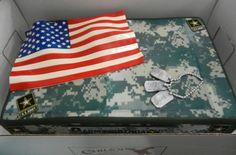 Birthday cake celebrating the Army's 238th birthday!