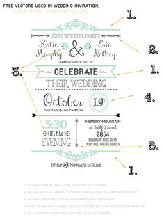 Tips on Designing Your Own Wedding Invitations. {ahandcraftedwedding.com} #DIY #invitations