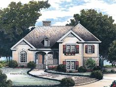 Eplans Cottage House Plan - Colonial Country Cottage - 1770 Square Feet and 3 Bedrooms from Eplans - House Plan Code HWEPL02620