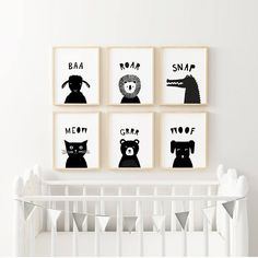 Boys Nursery Prints Kids Playroom Decor Printable Wall Art