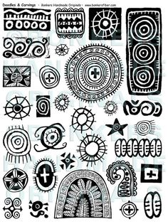 "Doodles and Carvings Rubber Stamp Sheet unmounted, 8-1/2"" x 11"" rubber stamp sheet. $27.00"