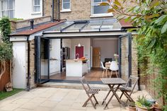 Planning a kitchen extension? We'll take you from A to Z Kelly and Darren have updated an existing extension to create a bright and airy kitchen-diner Extension Veranda, House Extension Plans, House Extension Design, Glass Extension, Rear Extension, Extension Ideas, Garden Room Extensions, House Extensions, Kitchen Extensions