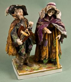 Vintage German Porcelain Figural Group with by GinForsOdditiques, $75.00