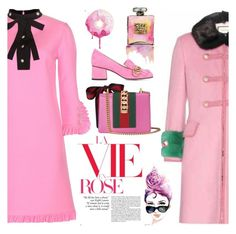 """""""**LA VIE EN ROSE **"""" by nicolevalents ❤ liked on Polyvore featuring Gucci and Chanel"""