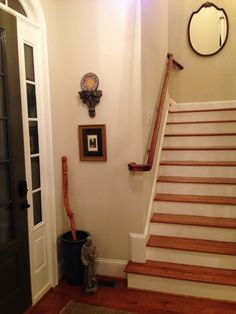 The entryway gets a touch of art and accessories.