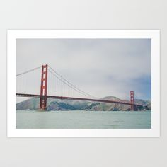 Buy San Francisco - Golden Gate Bridge Art Print by sarahkusz. Worldwide shipping available at Society6.com. Just one of millions of high quality products available.