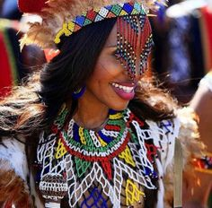 Its African inspired. African Attire, African Dress, African Outfits, African American Braids, African Wedding Dress, Wedding Dresses, South African Weddings, African Jewelry, African Culture