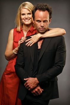 Joelle Carter and Walton Goggins portray a complicated couple in the FX drama #Justified